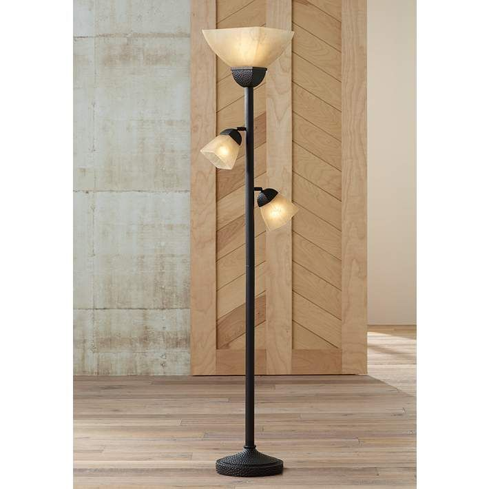Champagne Glass Torchiere Floor Lamp - #01882 | Lamps Plus