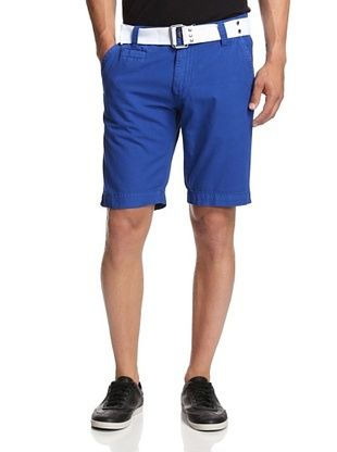 56% OFF X-Ray Men's Flat Front Belted Shorts (Cobalt)