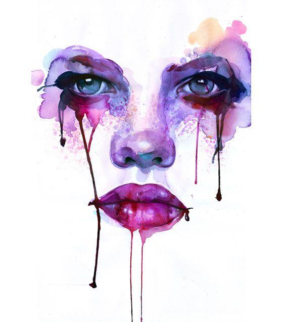 -: Watercolor Faces, Marion Bolognesi, Watercolor Portraits, Watercolor Paintings, Art Inspiration, Watercolors, Illustration, Marionbolognesi, Water Colors
