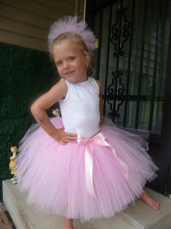 Toddler Girls TuTu Ballerina Skirt Hair Puff by TheTuTuCuteShoppe, $19.99