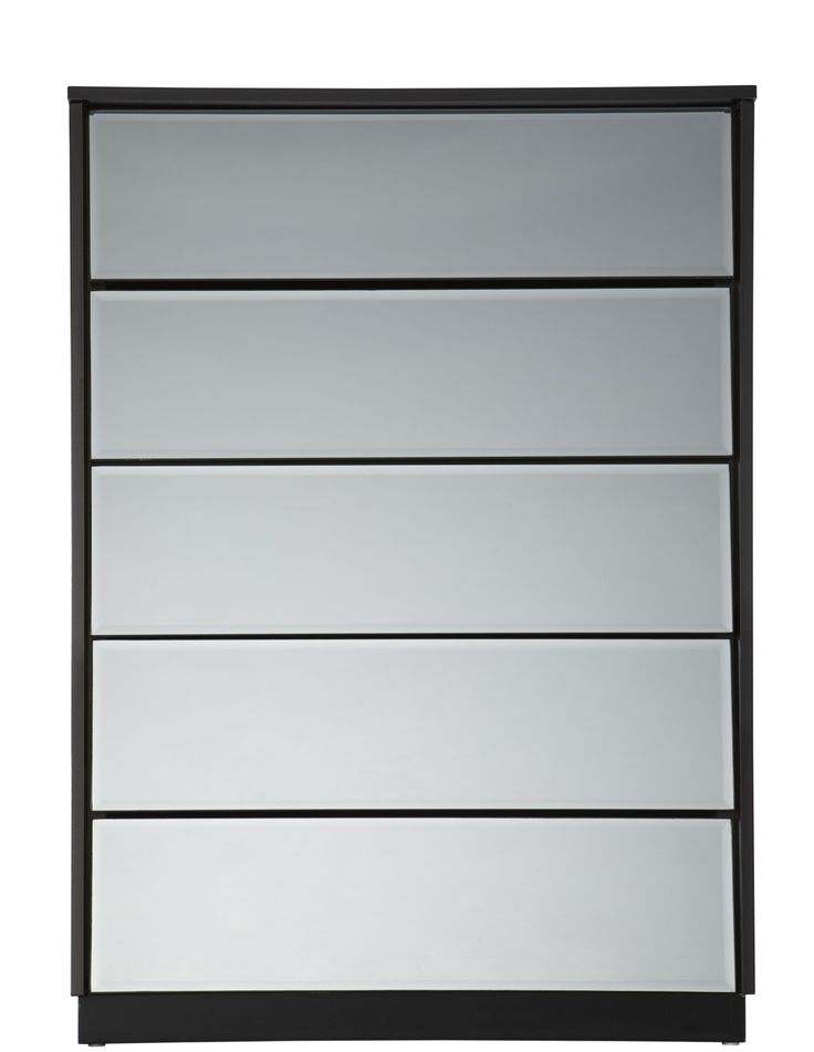 Forty Winks Louvre Mirrored Tallboy