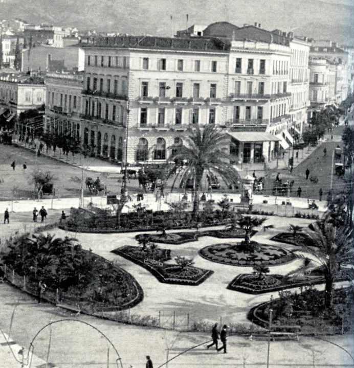 Omonoia square in Athens ~ 1903  #opticametaxas