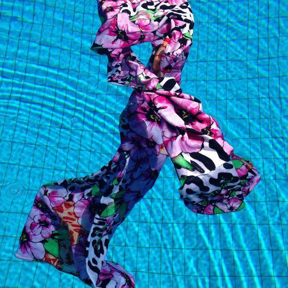 ragaga ss16 Schal Damen Lola aus Jersey Blumen auf Leoprint