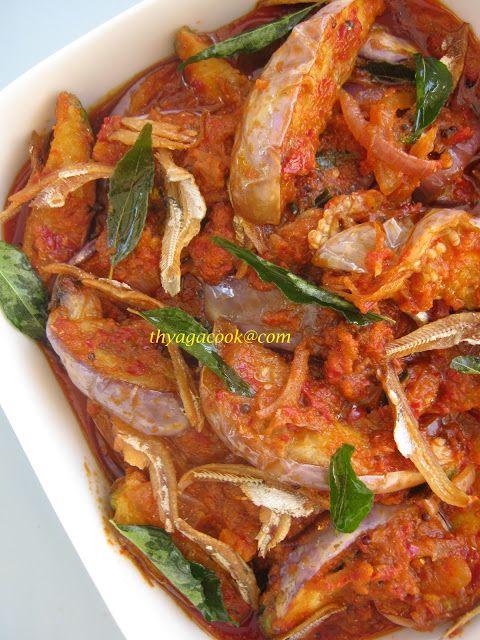 KARI LEAFS ... Malaysian  flavour's: BRINJAL AND ANCHOVIES SAMBAL
