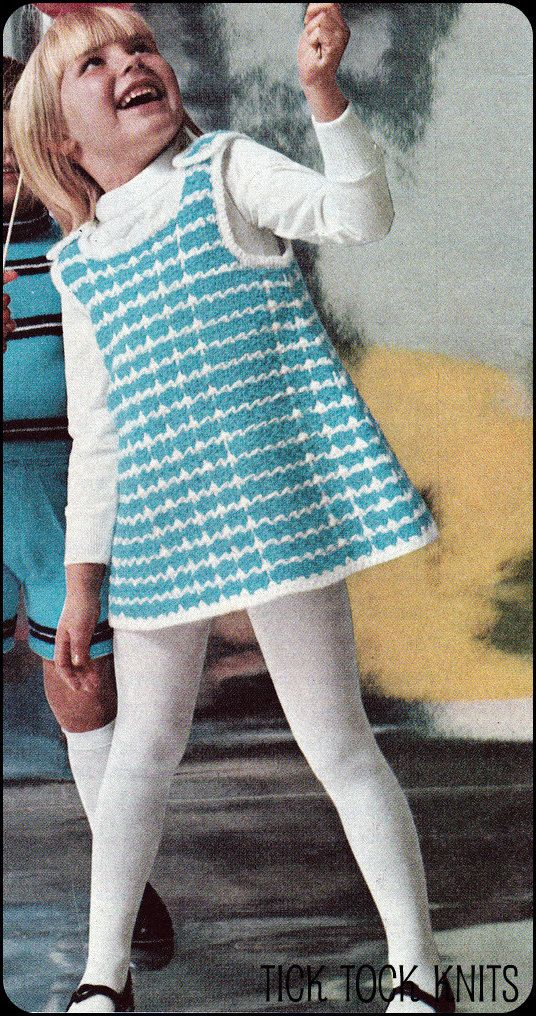 No 105 Pdf Vintage Crochet Pattern Girl S Jumper Dress
