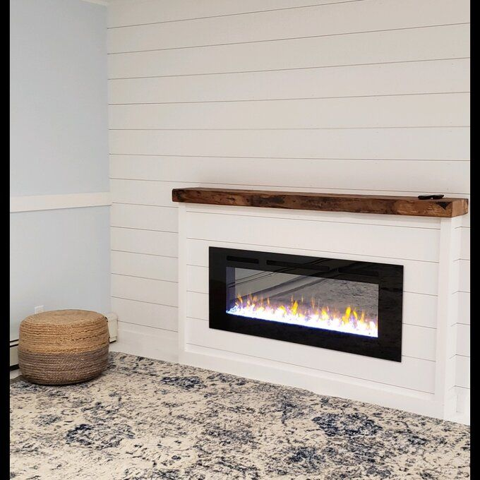 Iserman Realistic 4 Flame Colors Log Crystal Black Recessed Fireplace Recessed Electric Fireplace Build A Fireplace Diy Shiplap Fireplace