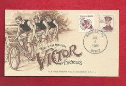 Carte des EUAN de 1985 - YT n° 1572 et 721 - Tricycle - général Pershing - Victor bicycle | For sale on Delcampe