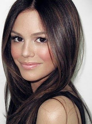 Brunette, Hair Color + Sleek Style | rachelbilson hair makeup