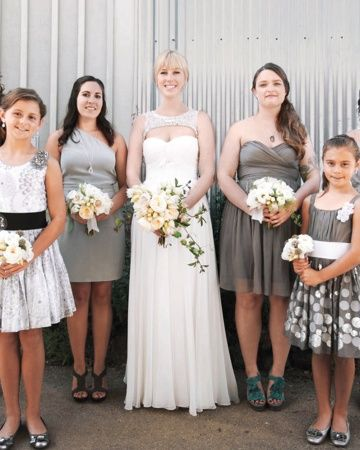 Bridal Party- love the color combination of everyone