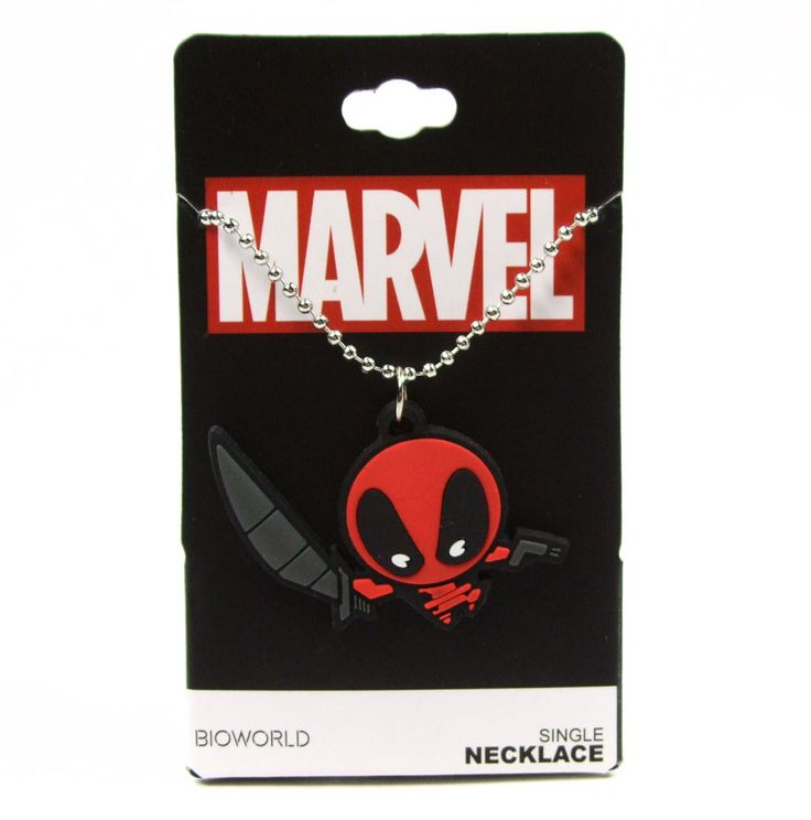 Marvel Comics DEADPOOL KAWAII NECKLACE Chibi Rubber Pendant NEW #Marvel #Pendant