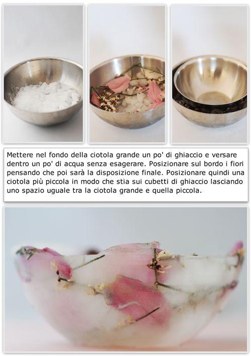 Ciotola di Ghiaccio e Fiori ( e anche frutta eh)