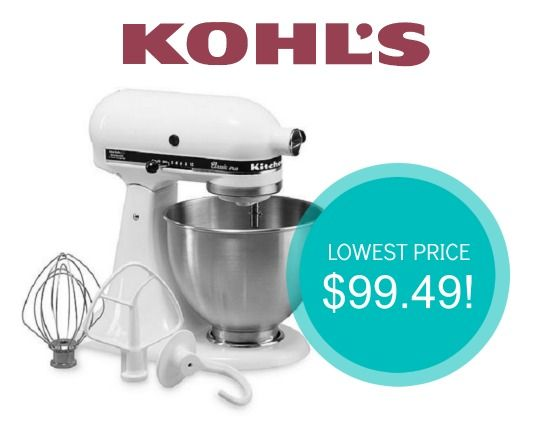 Best Price On Kitchenaid Stand Mixers As Low 99 49 Food Pinterest Mixer And