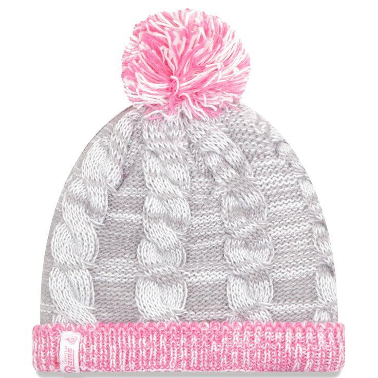 Los Angeles Rams New Era Girls Toddler Snug Cuffed Knit Hat - Gray/Pink - $13.59