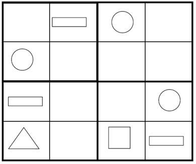 Sudoku for Kids: Kids Shape Sudoku Game 1 (PDF Version Below)