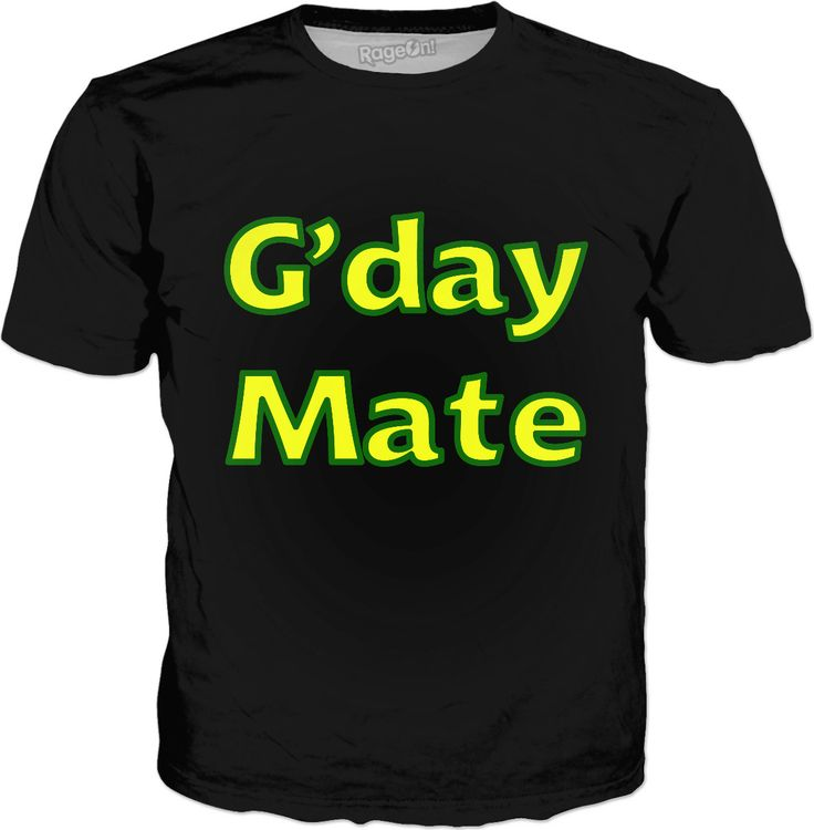 G'day Mate Classic Black Tee by Terrella available at https://www.rageon.com/products/gday-mate-2?aff=BSDc on RageOn!