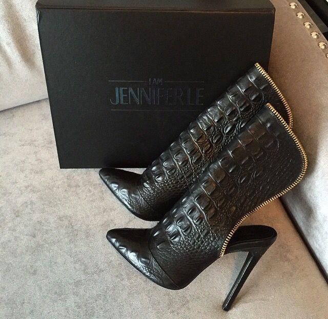 http://www.iamjenniferle.com/shop/black-caiman-boots