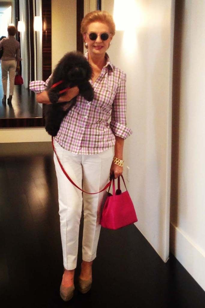 Carolina Herrera and her dog, Gaspar. [Photo Courtesy of Carolina Herrera]