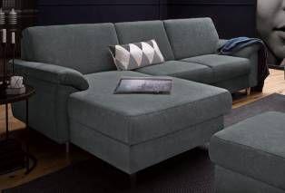 Sit&more Ecksofa mit Bettfunktion, grau, Recamiere links, hoher Sitzkomfort