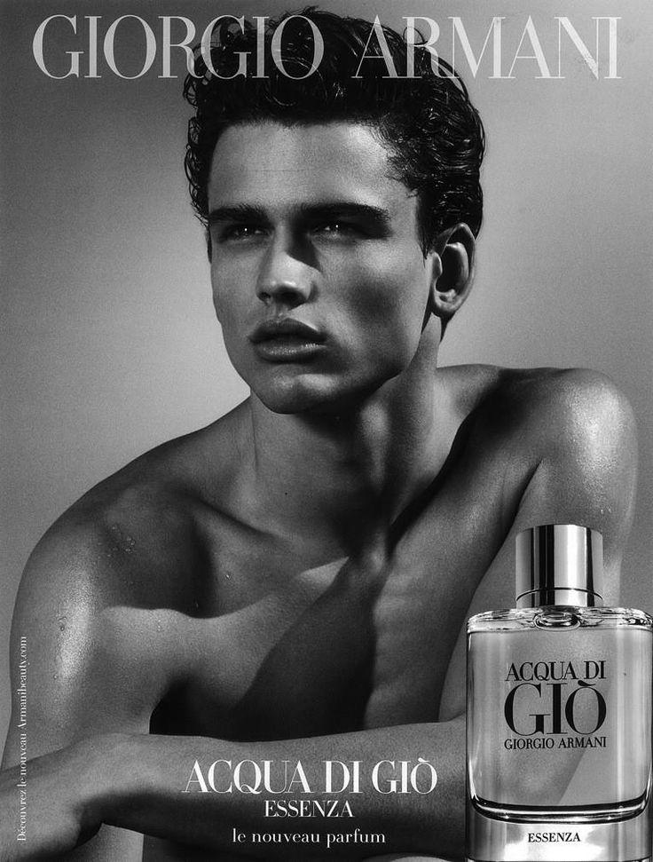 Top Model #SimonNessman for #GiorgioArmani - Giorgio Armani Acqua di Gio Fragrance Contract 2013 (F/W 13)