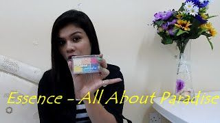 Hey Emoz,  Dis is the review video of Essence Eyeshadow Palette - All About Paradise  Hope u ol wil like dis video... Keep watchng n do stay wid us by subscribng to our channel....  Follow us on TWITTER : https://twitter.com/DZrandomzz FACEBOOK : https://www.facebook.com/DZrandomzz INSTAGRAM : https://instagram.com/DZrandomzz