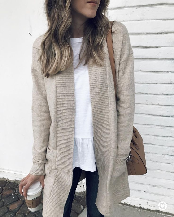 "3,366 Likes, 26 Comments - d e b | sunsets and stilettos (@sunsetsandstilettos) on Instagram: ""I have been wanting a super soft, neutral cardigan and this under $50 beauty is the one! I sized…"""