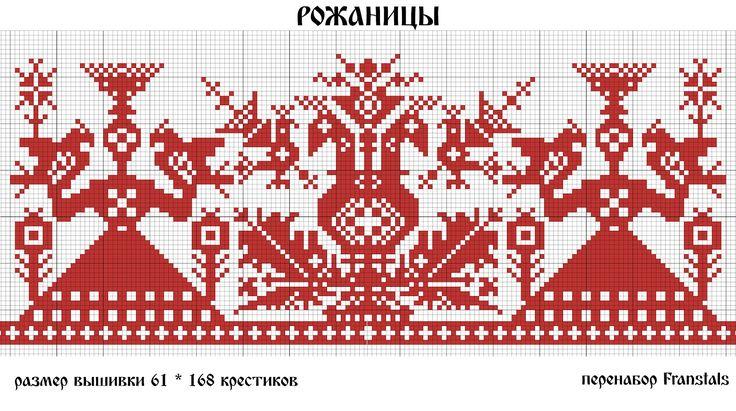 Славянские обереги - схемы вышивки