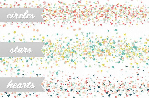 Confetti Party Scatter Brushes - $5 - Confetti Party is a