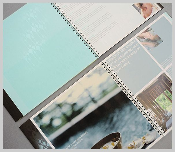 9 best spa brochures inspiration images on pinterest for Hotel brochure design inspiration