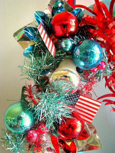 4th of July Wreath by Beth's Bagz, via Flickr: Vintage 4Th Of July Photo