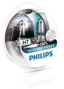 Philips 12972XVS2 Lot de 2 ampoules de phare X-treme Vision H7 +100% [Pour une durée limitée, le produit performant à +130% (2 bulbes)]:…