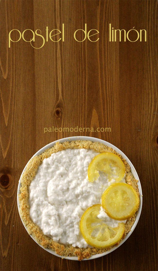 Pastel de coco y limón #paleo {sin gluten, sin lactosa} Coconut lemon pie #paleo, #glutenfree #dairyfree
