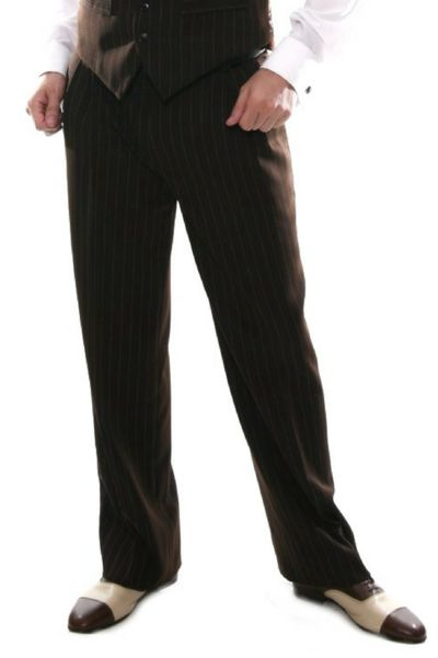 Men's Brown Pants   conSignore Tango Clothes for Men   #tangopants #menstangopants #menstangoclothes #argentinetango