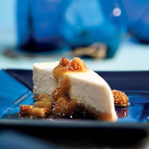Greek Yogurt Cheesecake with Ouzo-Poached Figs from Eating Well!!