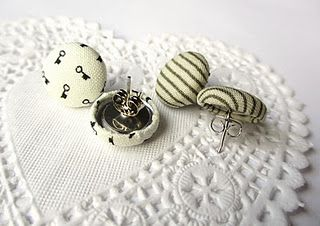 how-to: make cute fabric covered button earrings for yourself and your closest girls :)