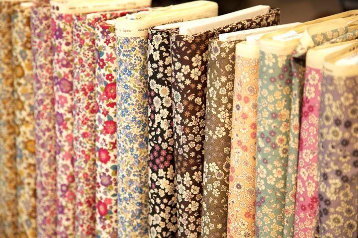 les tissus fleuris Frou-Frou chez Moline Mercerie
