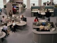 The trend for the past 35 years in office design is to move towards open plan. It uses space more efficiently and is cost effective. It can be easily reconfigured and reduce construction cost. It further also encourages team work, sharing of information, and is seen as motivational for workers.  Nearly three-quarters of U.S