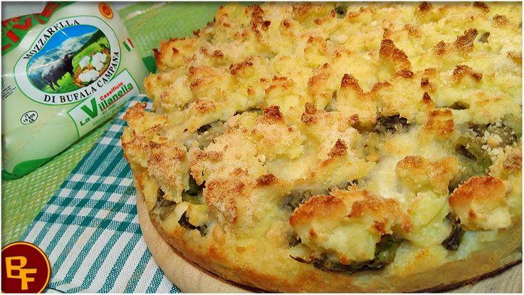 Sbrisolona salata di patate broccoli e mozzarella di bufala senza lievito