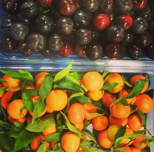 Beautiful fresh fruit for dessert at Christ Church Primary School.