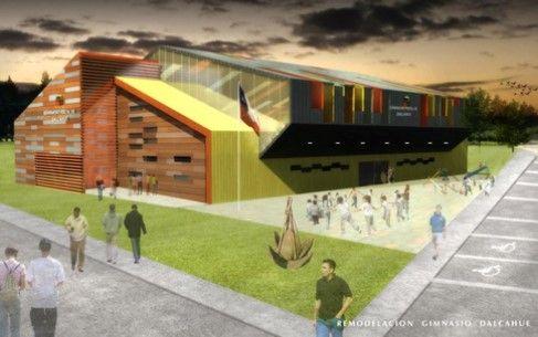 Gimnasio Dalcahue Chiloé. Colaboración de los arquitectos: Jenniffer Santana, Mario Barrientos.