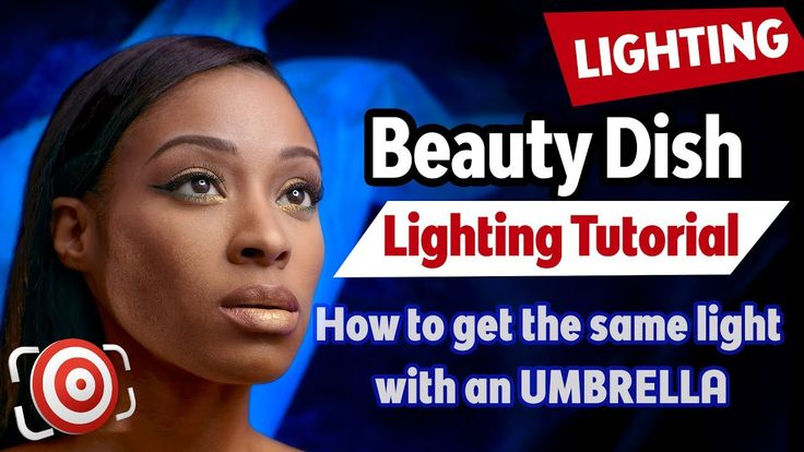 Beauty Dish Lighting Tutorial & How to make a DIY Beauty Dish with an um...