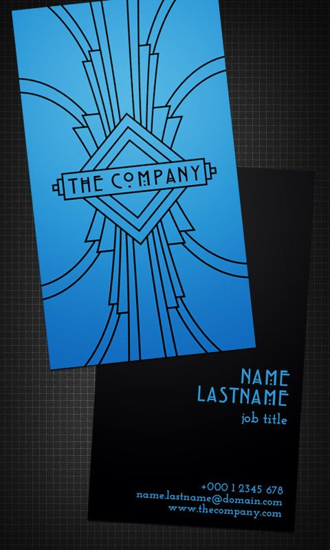 art deco design biz card