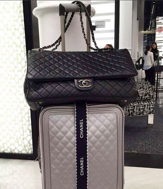 All the bags are packed, we're ready to go... @chanelofficial