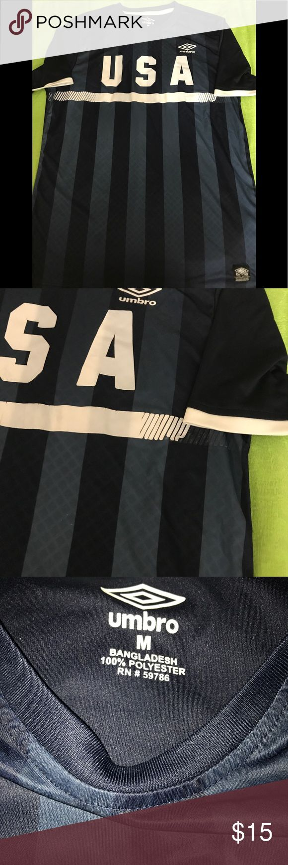 Umbro USA 🇺🇸Sport Shirt USA 🇺🇸 navy blue and white sport shirt. Some logo lines loose but still awesome! Umbro Shirts