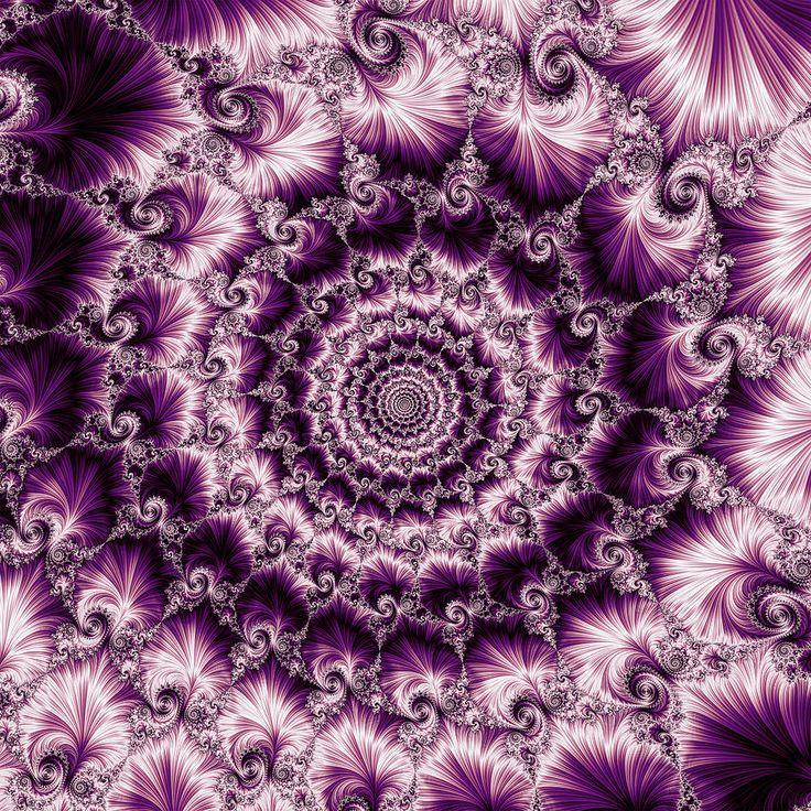 Fractal Digital Art - Purple Spiral by Mariia Kalinichenko #MariiaKalinichenko