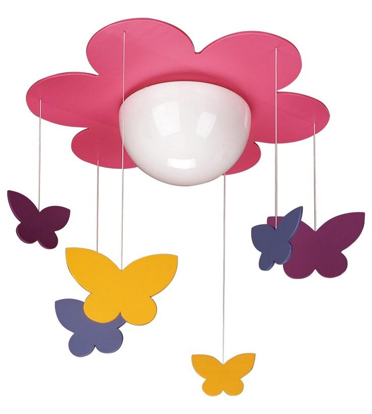 Philips ceiling lamps fuchsia 1x40w lightings for kids room nursery home
