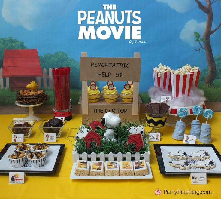 The Peanuts Movie, Peanuts movie party, Snoopy cookies, Charlie Brown party, Snoopy inspired party, Linus and Lucy, Blue Sky Studios, Party Pinching, Norene Cox