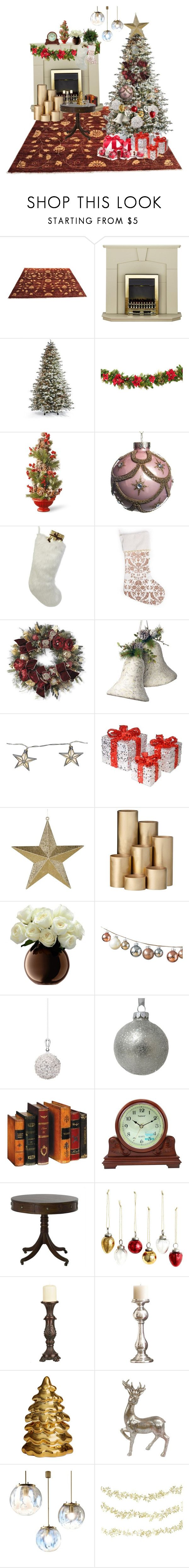 """""""Guardando film di natale"""" by alessiam95 ❤ liked on Polyvore featuring interior, interiors, interior design, home, home decor, interior decorating, Frontgate, National Tree Company, Helen Moore and Parlane"""