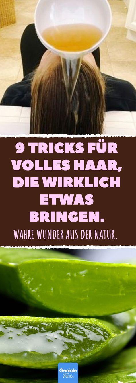 9 Tricks für volles Haar, die wirklich etwas bringen. #haarausfall #volles #schütteres #haar #hausmittel – Geniale Tricks