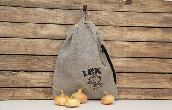 Linen onion bag. by lininline on Etsy