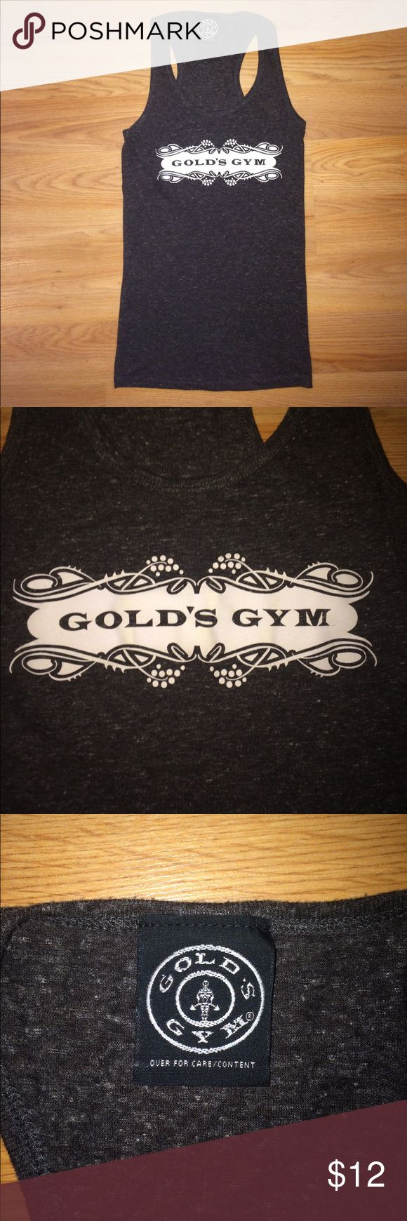 Gold's Gym Racerback Tank Never been worn! Tag says small, but it's too tight for me. Fits much closer to an extra small. Price fairly firm. Gold's Gym Tops Tank Tops